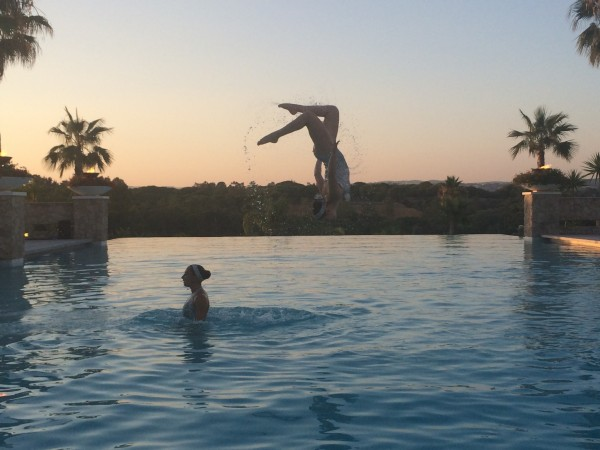 Sunset backflips