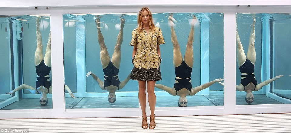 Modelling for the Stella McCartney Adidas SS14 launch