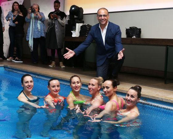 Theo Paphitis, owner of lingerie and swimwear brand Boux Avenue, hosts VIP Pool Party to launch the SS16 collection and mark the brand's 5th Birthday.
