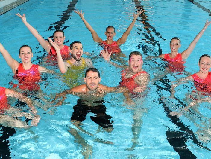 Synchronized swimming with James Corden, Jack Whitehall and Jamie Redknapp