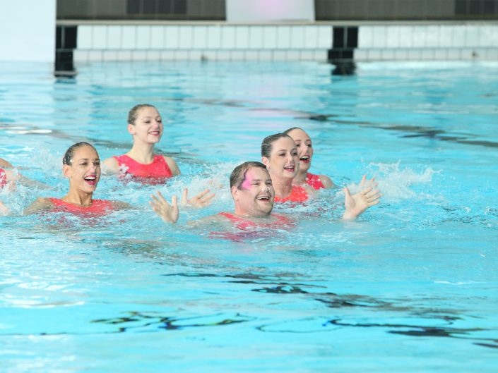 James Corden synchronised swimming A League Of Their Own