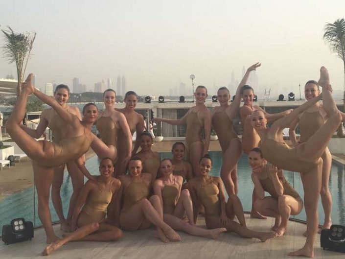 Aquabatix synchronized swimmers UAE events