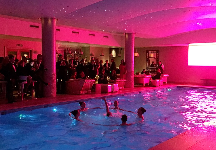 Aquabatix adds a sprinkle of Christmas sparkle at the Haymarket Hotel
