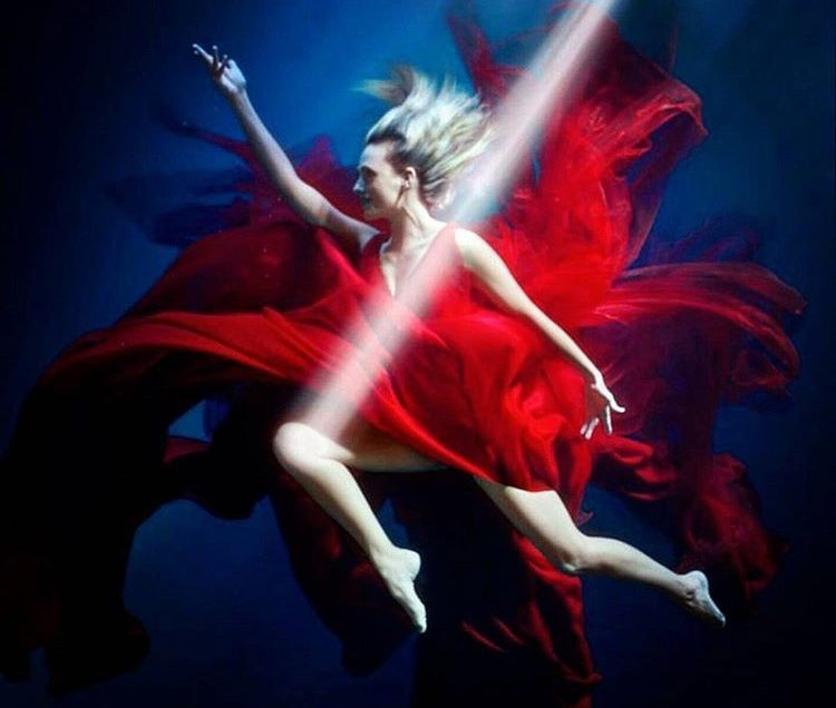 Underwater choreography for MegaRed commercial