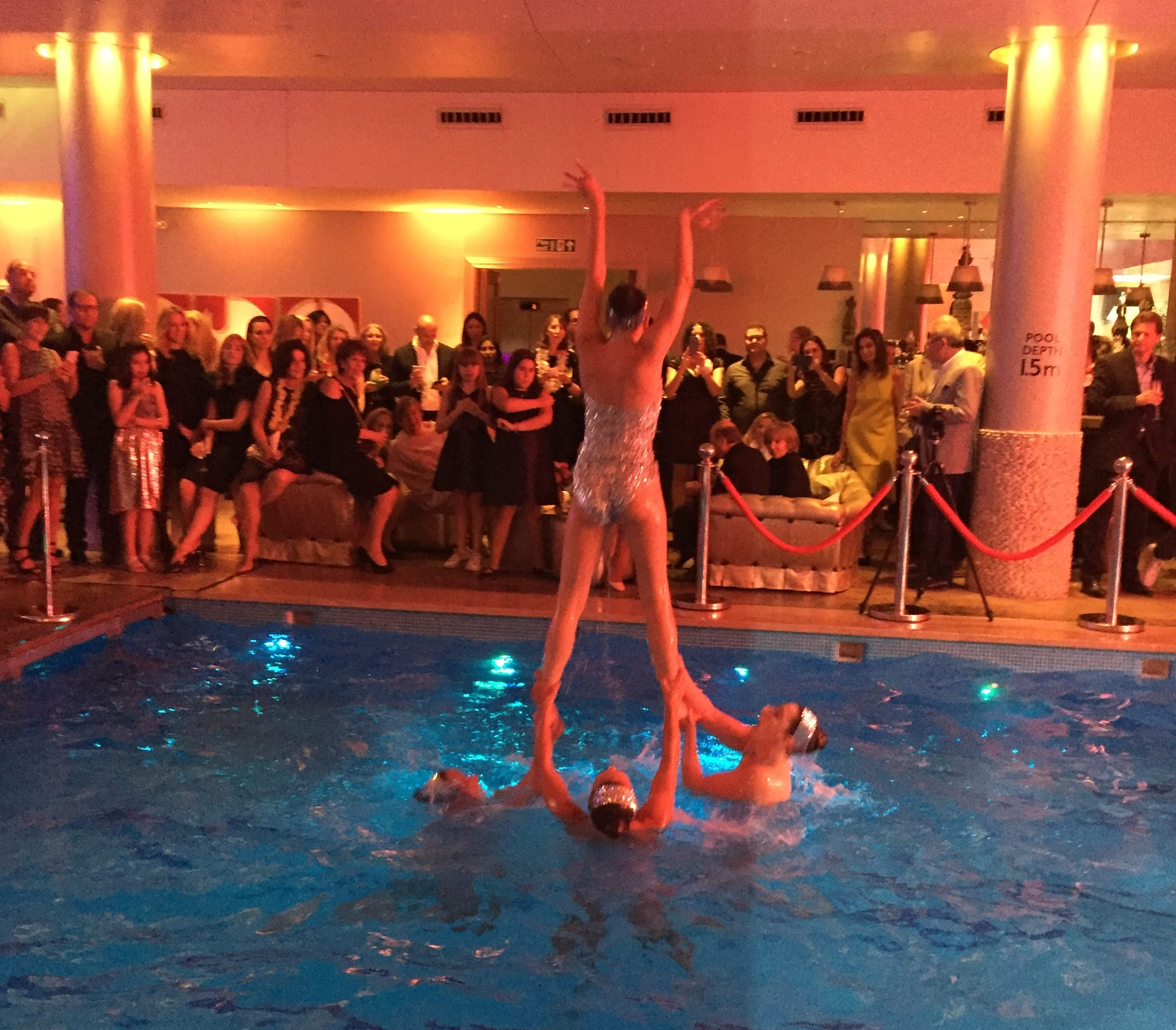 Bat Mitzva synchronised swimming performance