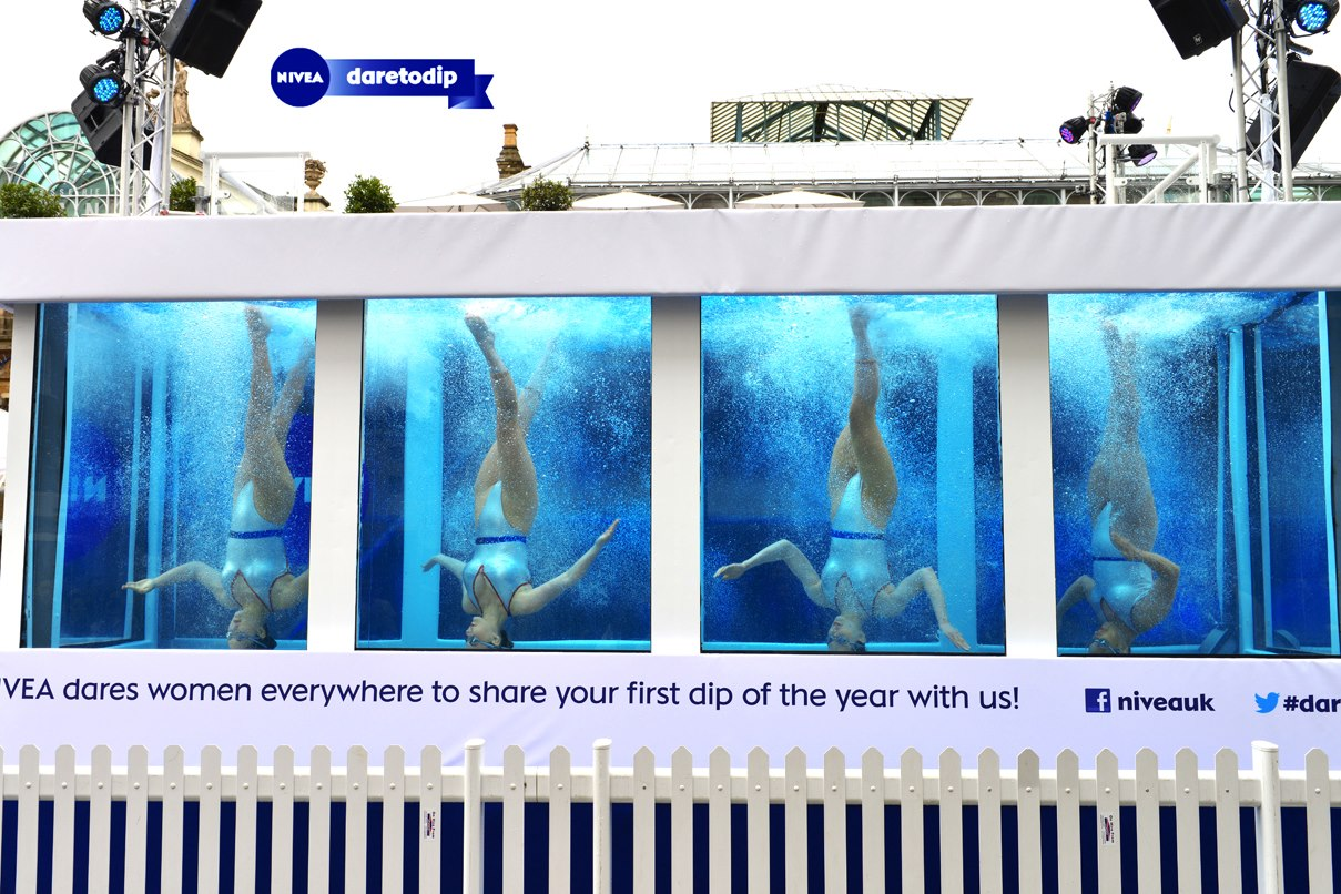 Britain's Got Talent underwater act finalists Aquabatique perform for Nivea
