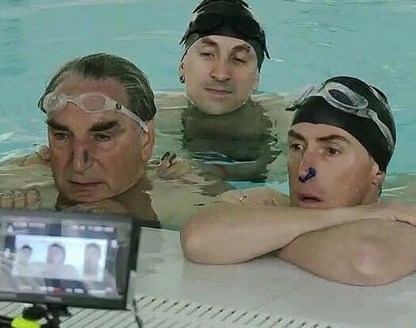 Swimming with Men Rob Brydon, Jim Carter, Chris Jepson