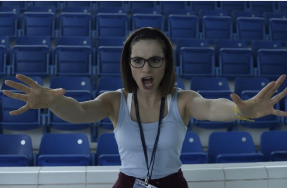 Swimming With Men coach played by Charlotte Riley
