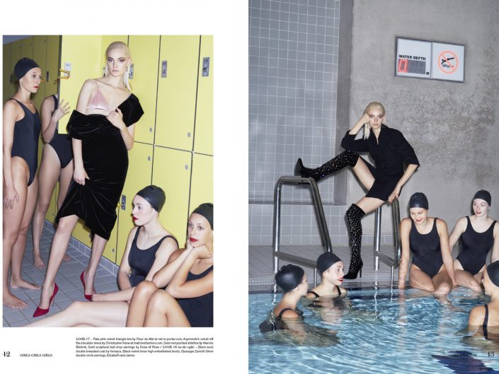 Girls Girls Girls magazine feature with Nimue and Aquabatix