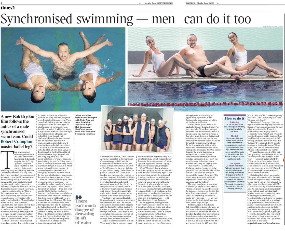 The Times feature synchronised swimming