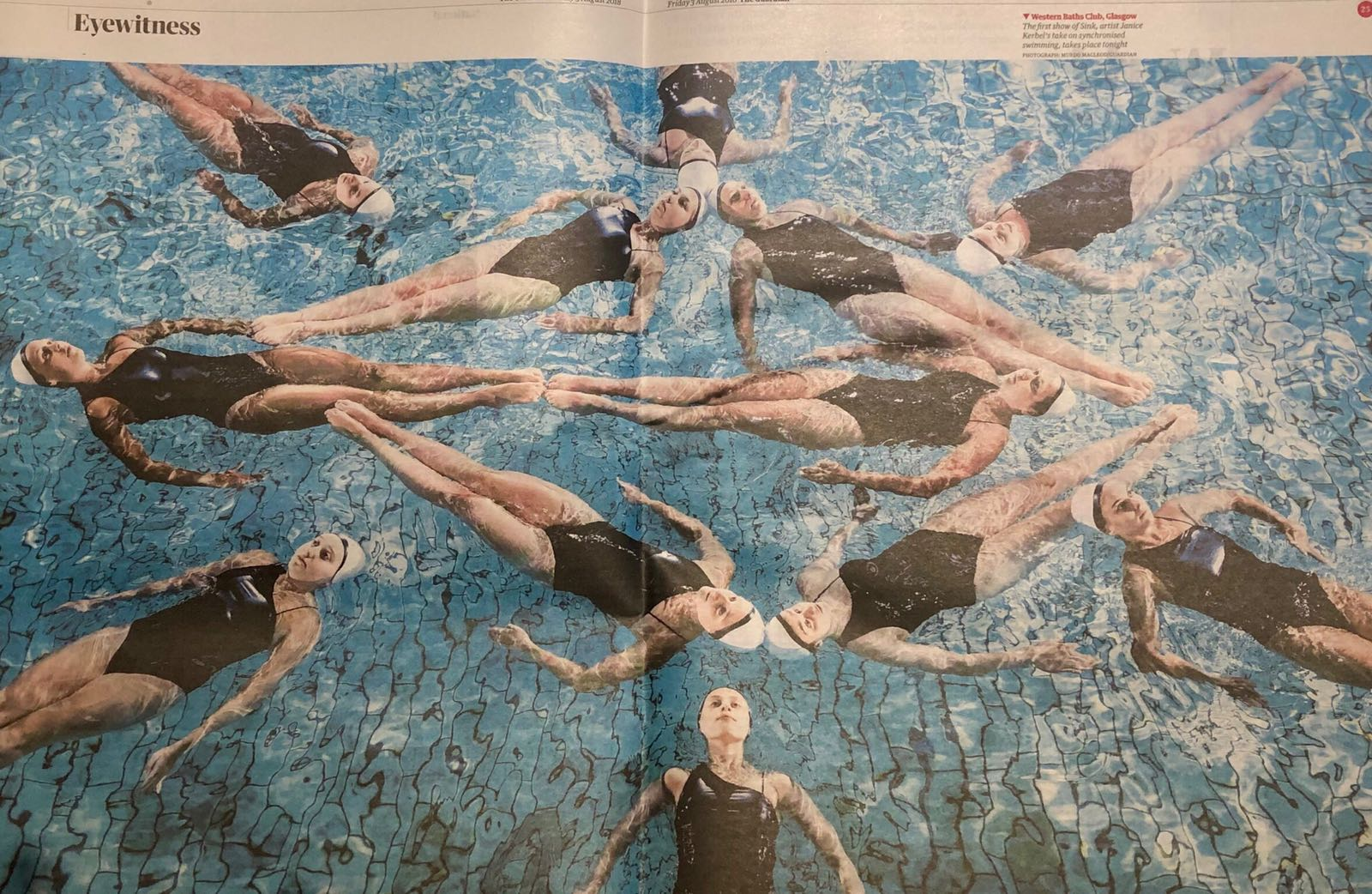 Aquabatix feature in double page spread for The Guardian and Sink