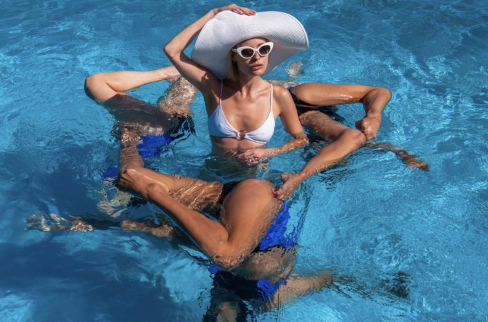 Blaise Cepis photographs Aquabatix synchronized swimmers