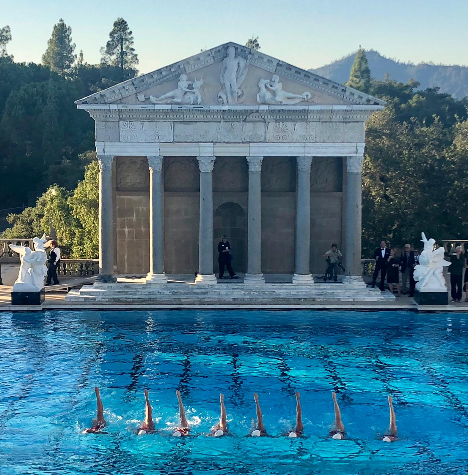 Aquabatix USA synchronized swimmers at Hearst Castle