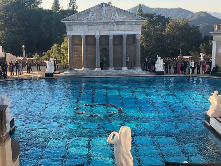 Aquabatix synchronized swimmers Hearst Castle Neptune pool