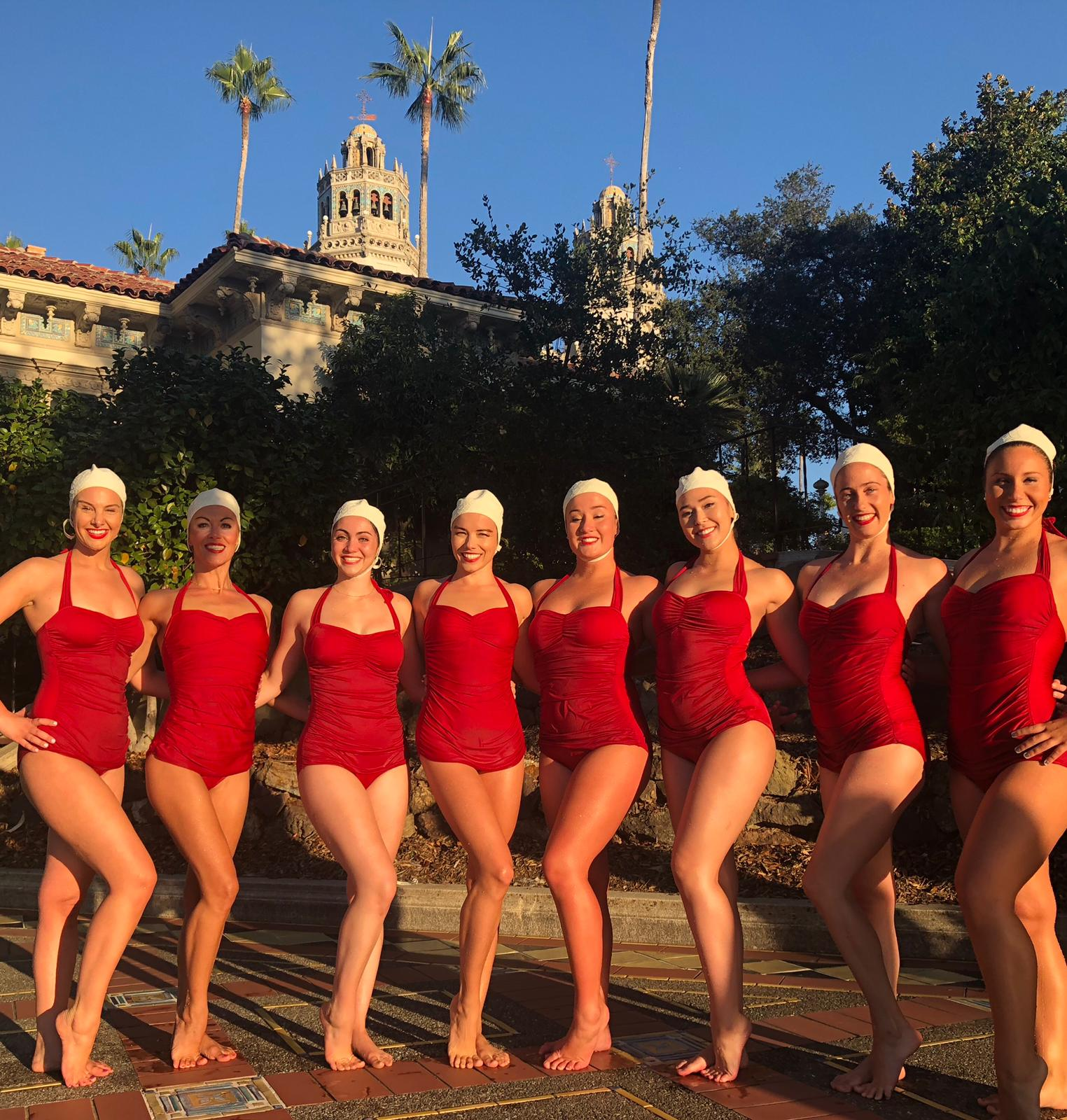 Aquabatix usa synchronized swimming troupe Hearst Castle