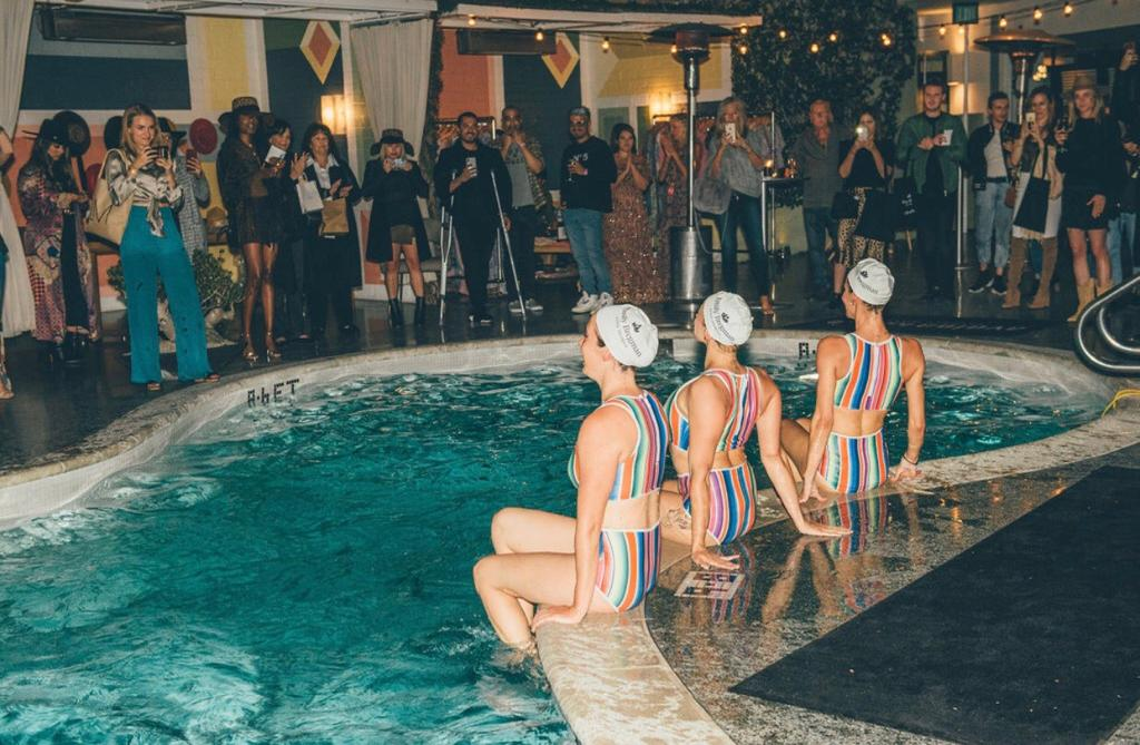 Aquabatix USA synchronised swimming performance Avalon hotel