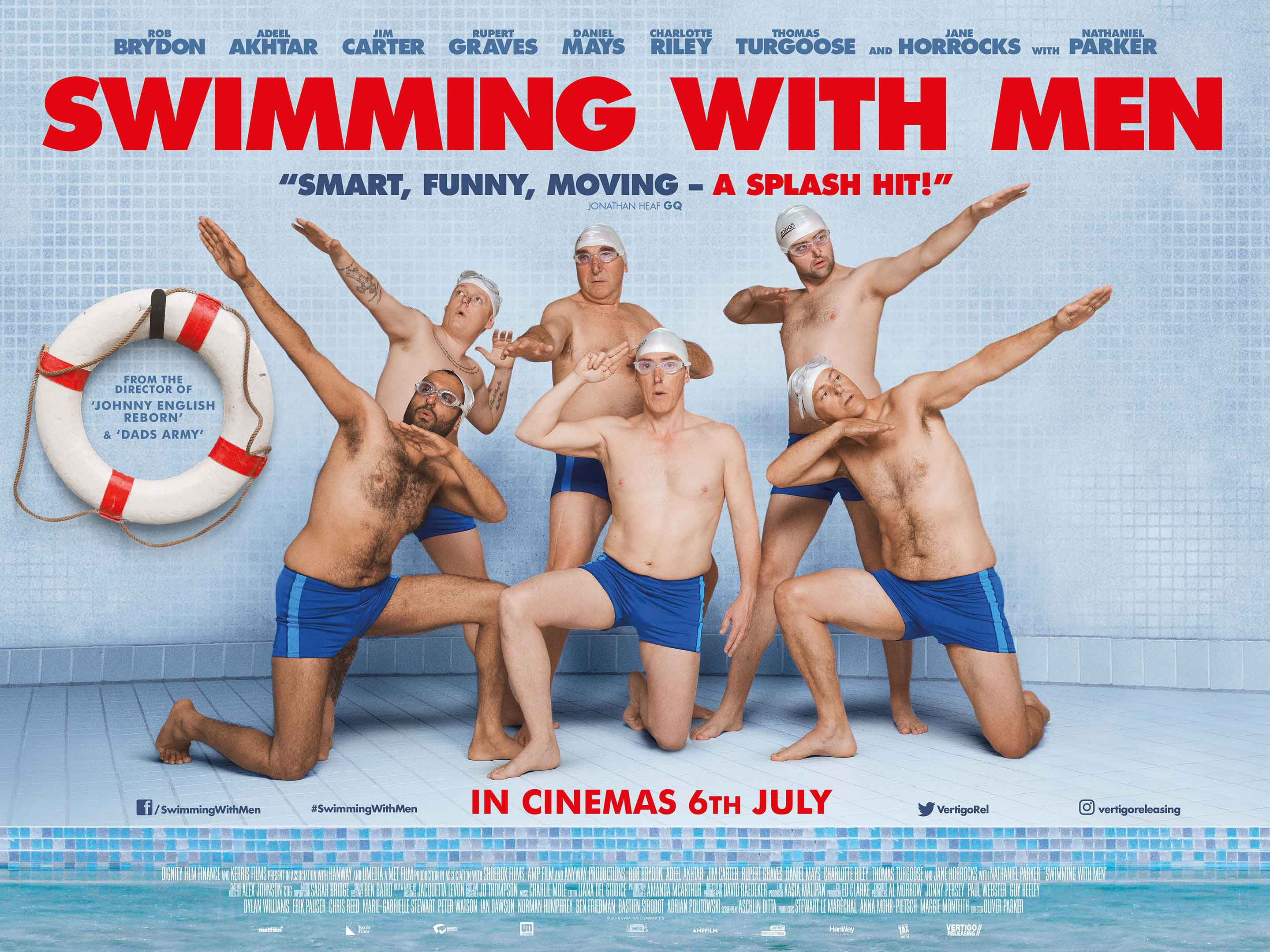 Swimming With Men Aquabatix synchronised swimmers