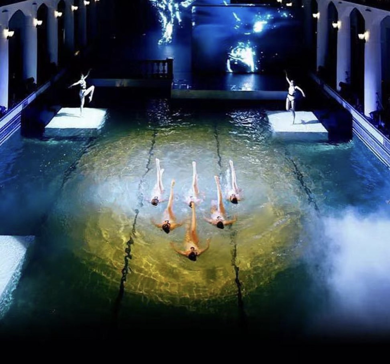 Synchronized swimmers from Aquabatix perform at BMW X7 launch in China