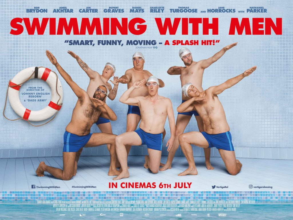 Daniel Mays, Rupert Graves, Jim Carter, Rob Brydon, Thomas Turgoose and Adeel Akhtar Swimming With Men