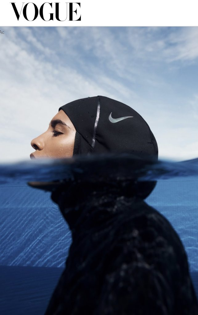 Aquabatix help with underwater movement and poses on Nike Victory Swim shoot