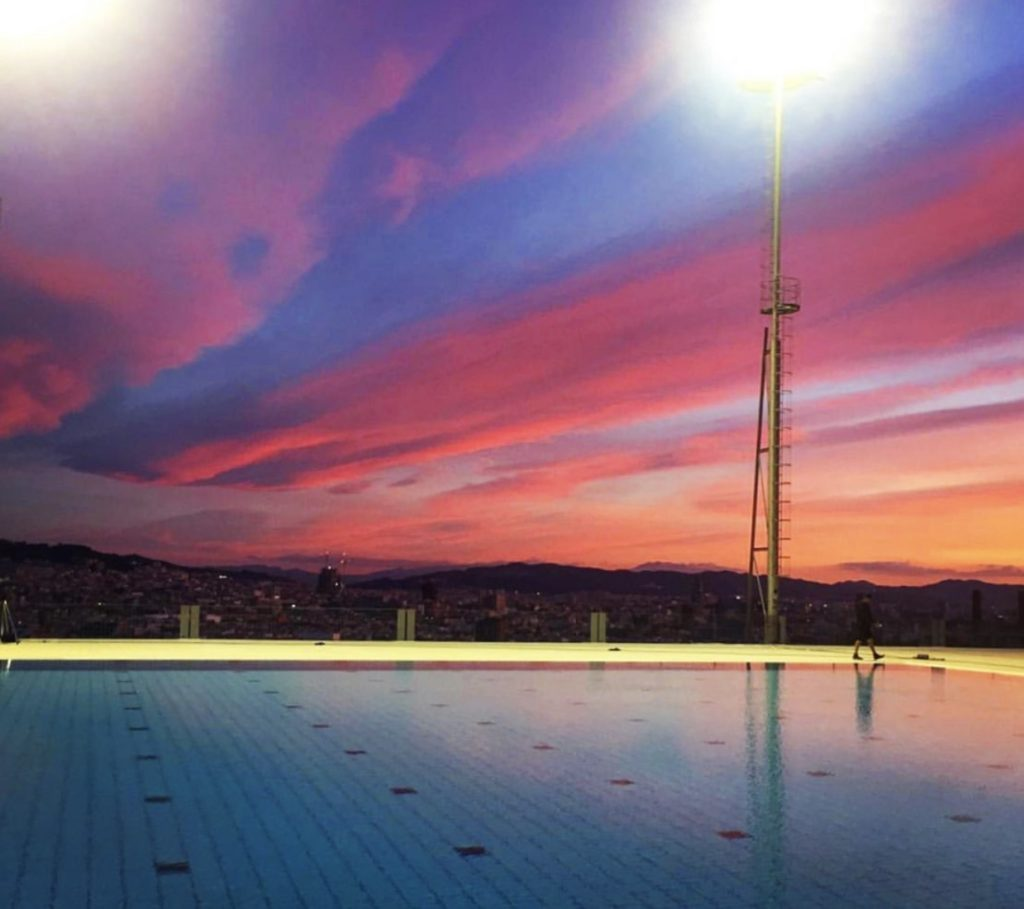 The Olympic diving pool in Barcelona was the Nike Victory Swim location