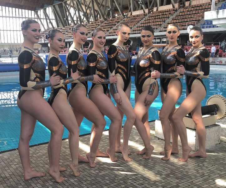 Trigonometry TV drama with Aquabatix synchro swimmers and actresses Ariane Labed and Isabella Laughland