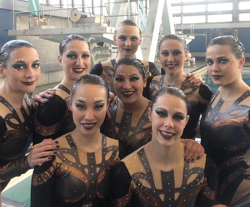 Aquabatix synchronised swimming team featured in filming