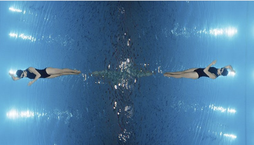 Aquabatix synchronised swimmers Nowness x Mercedes The Moment Before
