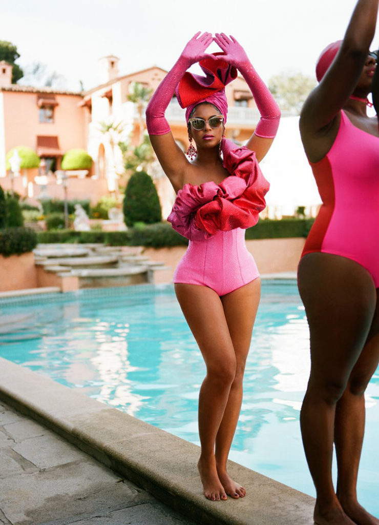 Beyonce in Black is King synchronized swimmer