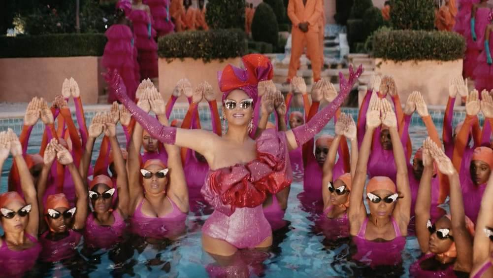 Beyonce Black is King synchronized swimming scene