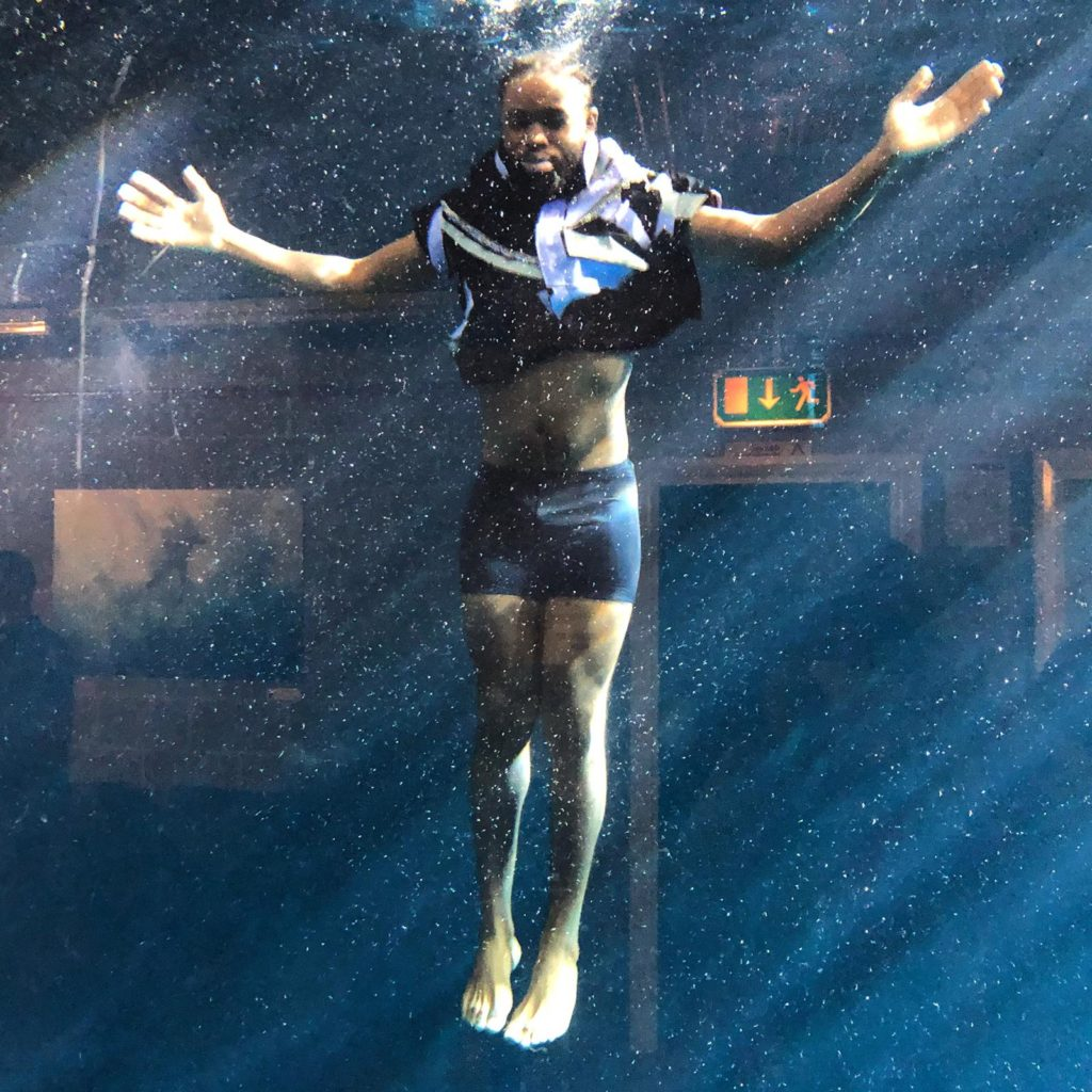 Aquabatix underwater model in Absolut vodka It's in our spirit campaign
