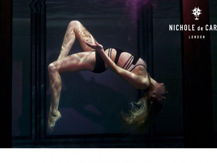 Aquabatix underwater model in Nichole De Carlse campaign