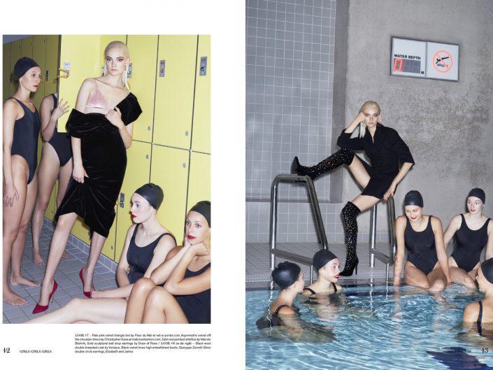 Girls Girls Girls magazine feature with Nimue and Aquabatix