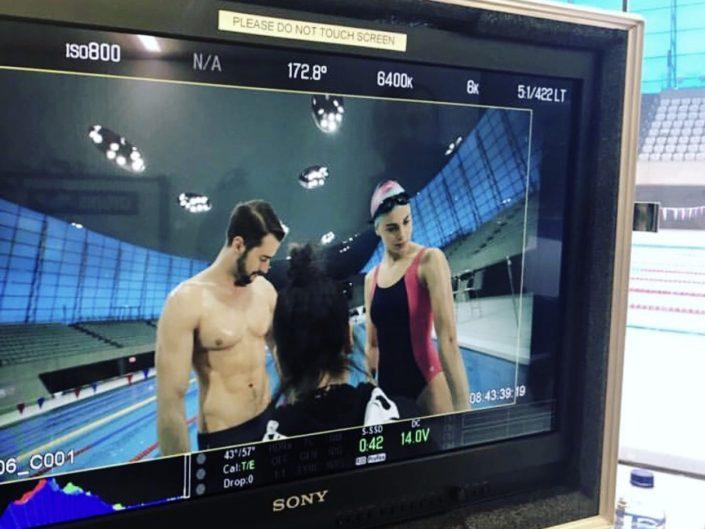 Aquabatix aquatic model in WOM Chile commercial
