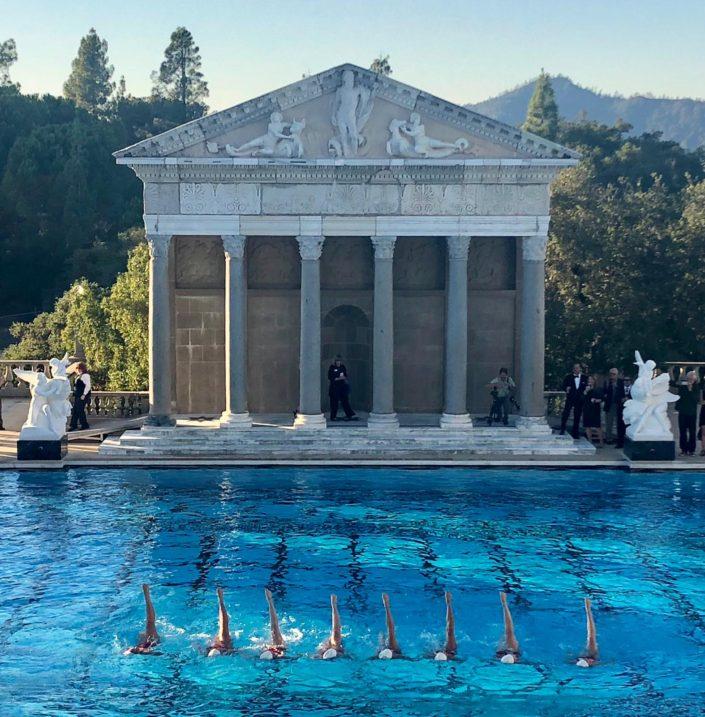 Aquabatix USA synchronized swimmers at Hearst Castle