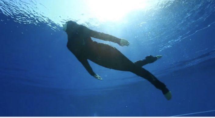 Aquabatix synchronised swimmer underwater in Nike swim campaign