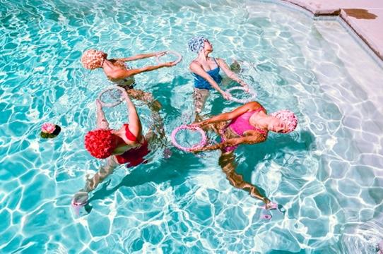 Bala photo shoot with Aquabatix USA synchronized swimmers in LA
